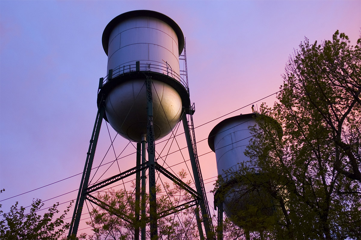 Chico and Yuba City Water Towers