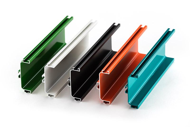 colorful powder coated aluminum profiles