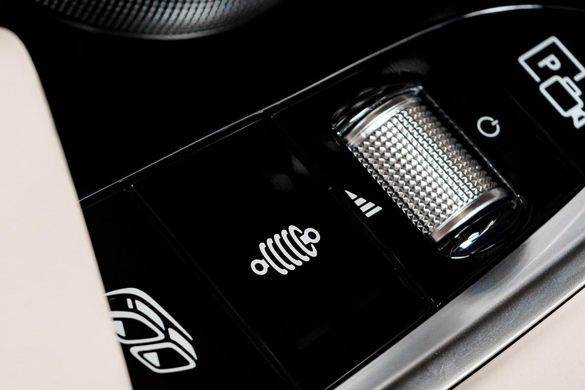 Industrial screen printing closeup car