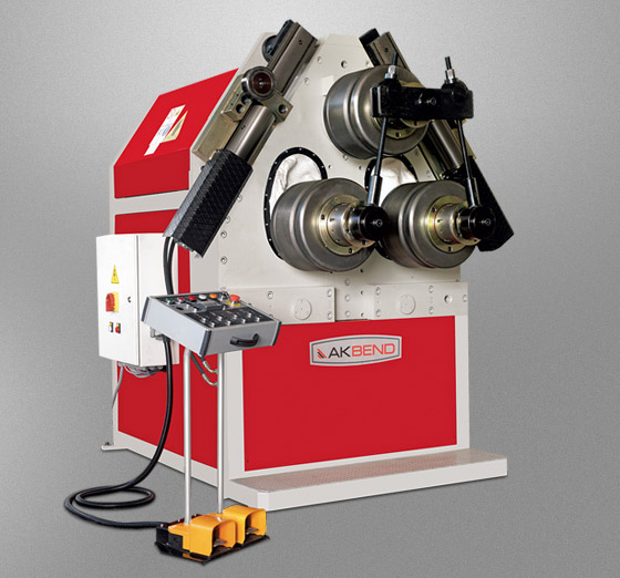 Akbend angle roll and section bending machine