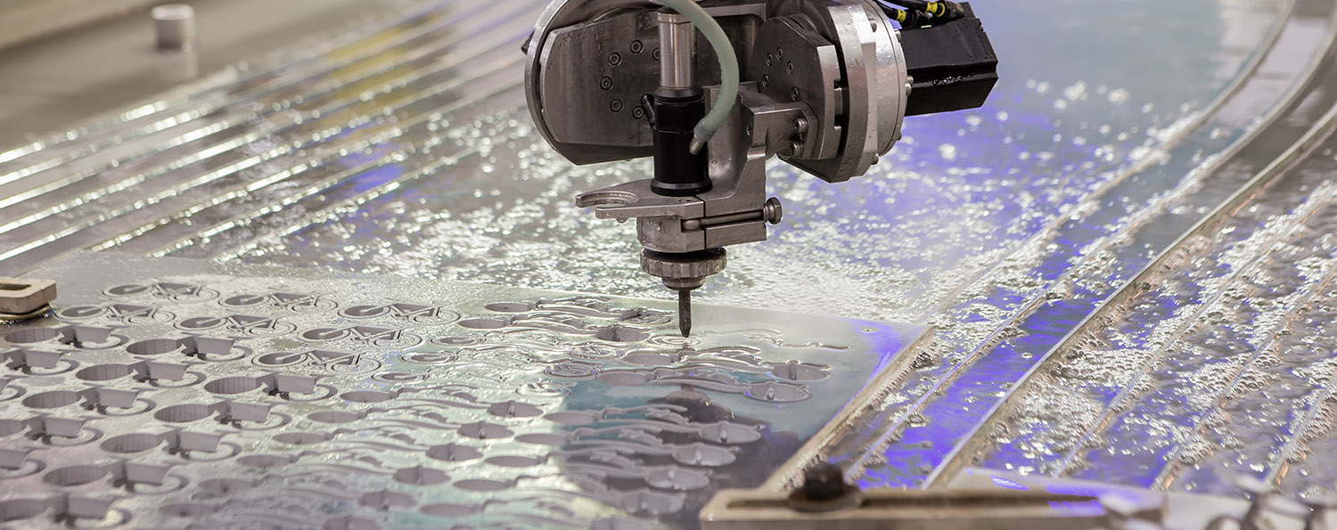 Waterjet Cutting Machine in action